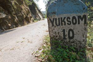Road Sign, Yuksom, Sikkim