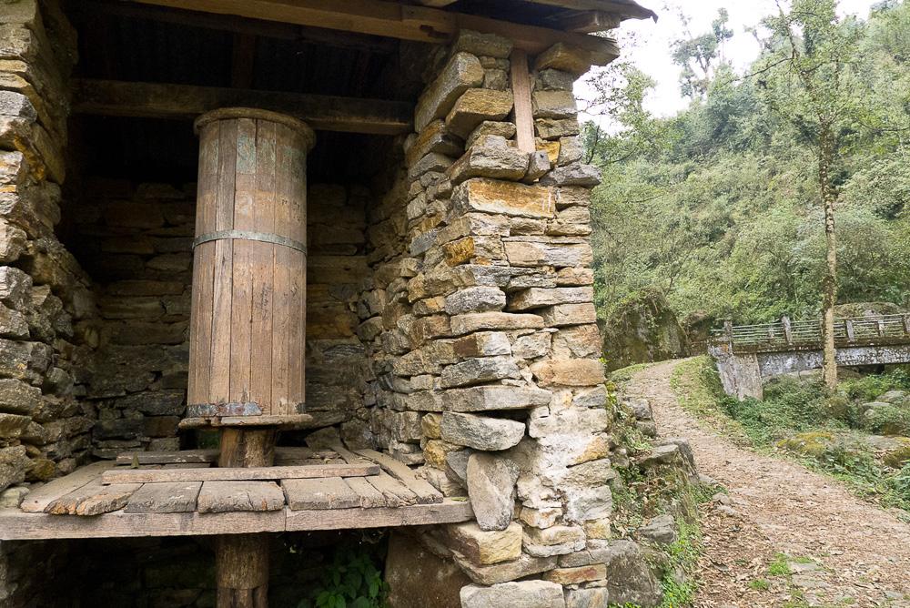 Old Prayer Wheel, Yuksom, West Sikkim