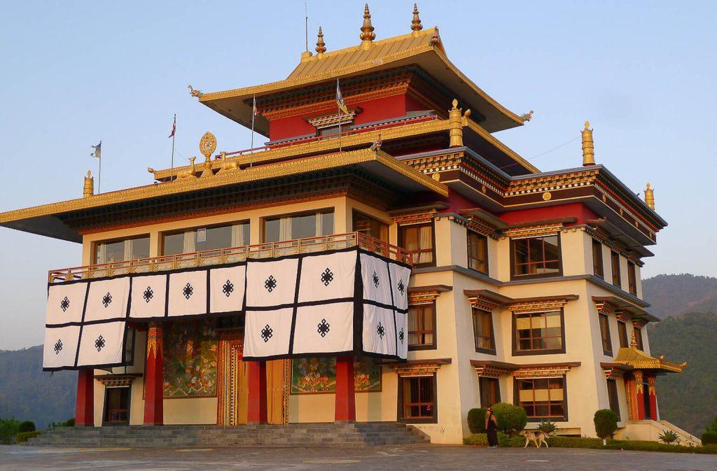 The sun rise over Neydo Monastery Kathmandu, Nepal.