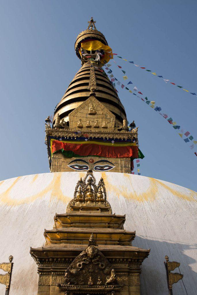 Swayambhu Stupa in the Kathmandu Valley.