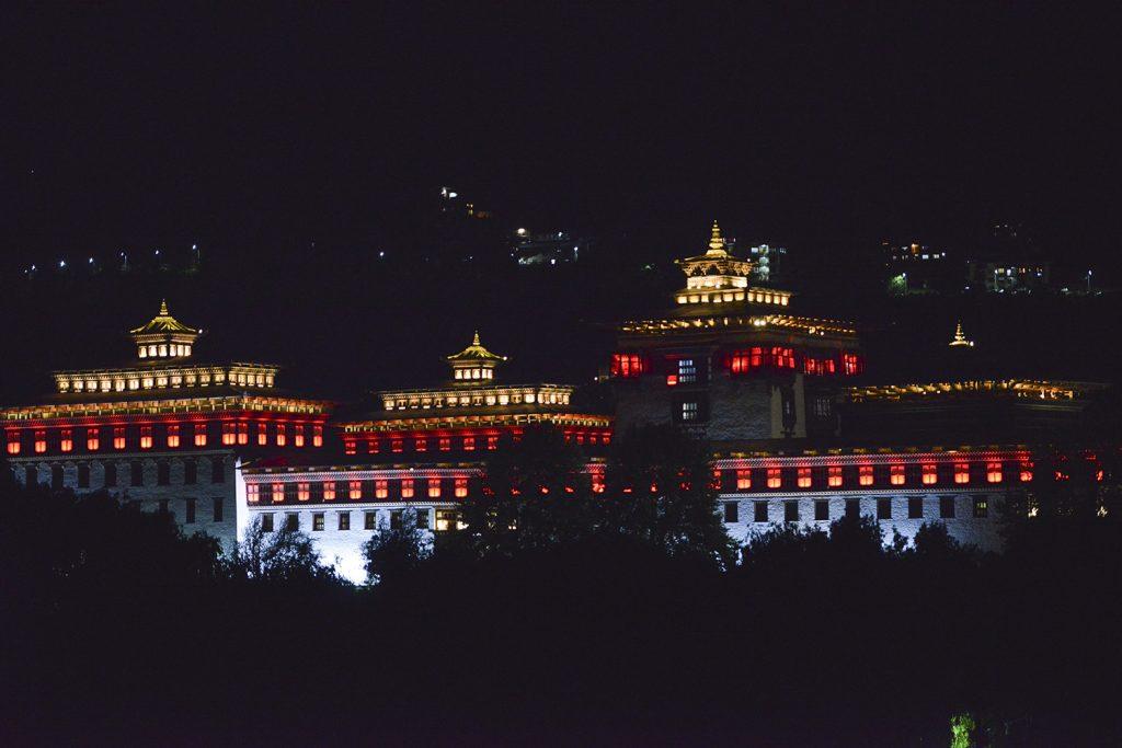 Night scape in Bhutan