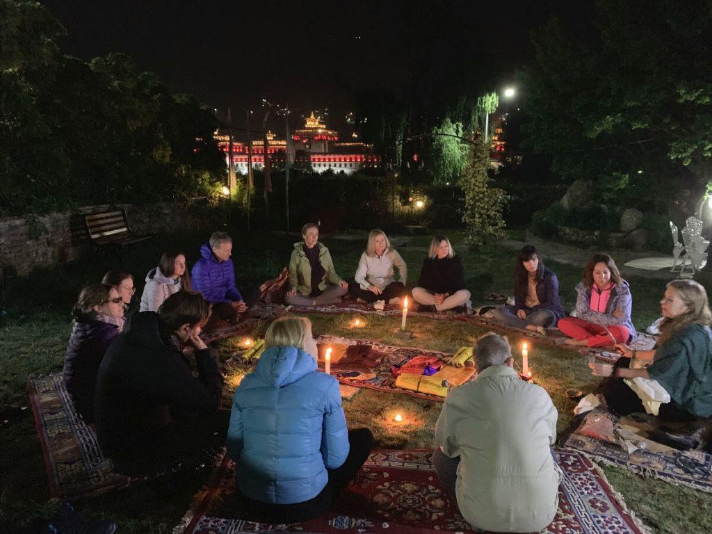 The opening ceremony on ht e 2019 Bhutan Yoga Adventure with Elton Yoga.