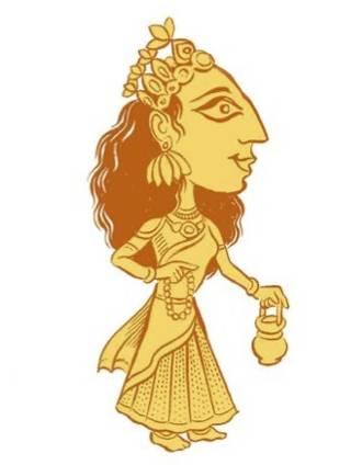 The Navadurga, Brahmacharini illustration by SATYA MOSES