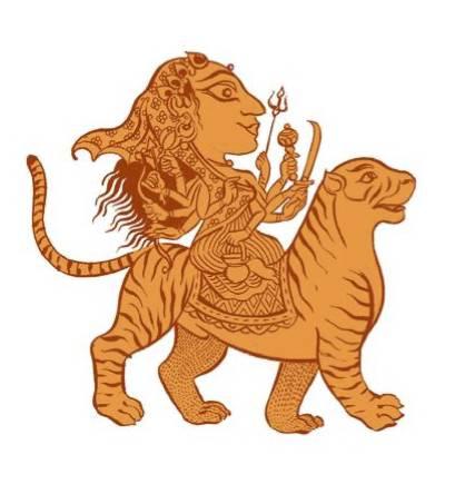 The Navadurga, Chandraghanta illustration by SATYA MOSES