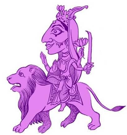 The Navadurga, Katyayani illustration by SATYA MOSES