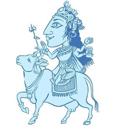 The Navadurga, Mahagauri illustration by SATYA MOSES