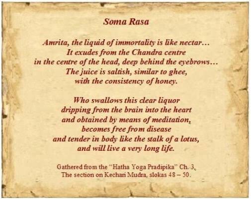 Excerpt from the Hatha Yoga Pradipika on Amrita / Soma.